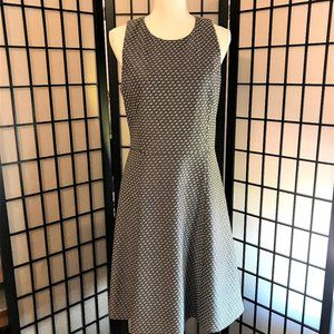 Theory Trekana Circuit Knit Fit & Flare  Dress